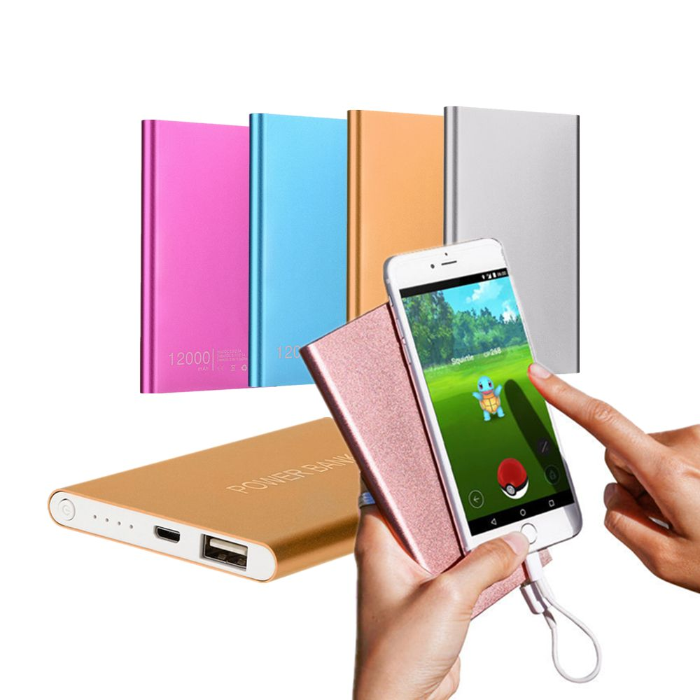 For Xiaomi Power Bank 12000mAh Emergency Portable USB External Battery Pack Charger Ultrathin Powerbank For Cell Phone Poverbank
