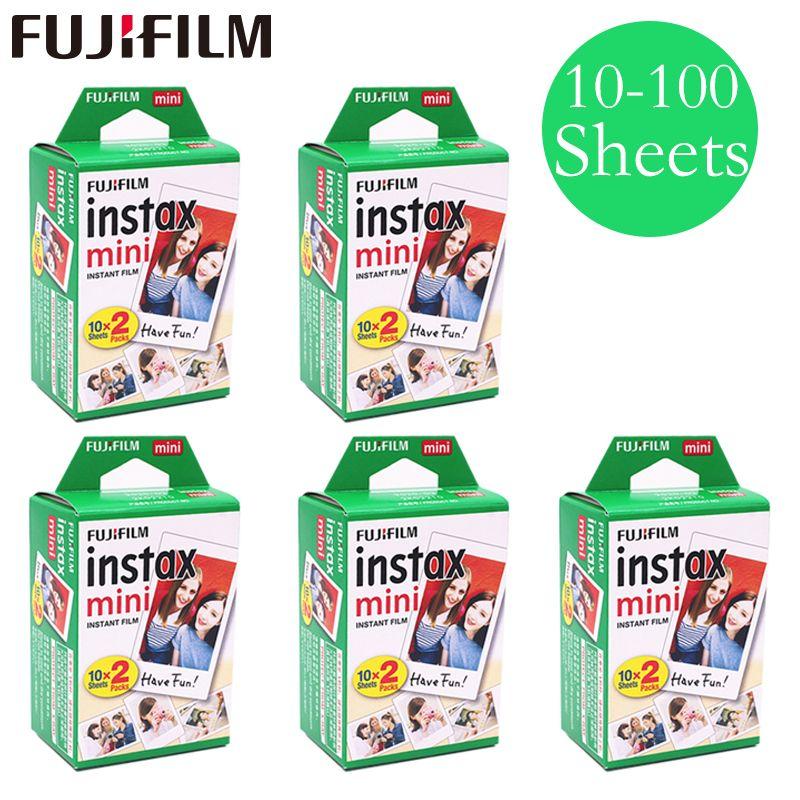 20-100 feuilles Fuji Fujifilm instax mini 9 8 films blanc Bord films pour instantanée mini 9 8 7 s 25 50 s 9 90 Caméra Sp-2 photo Papier