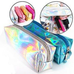 1Pcs 11.11 Dream Magic Cool Pencil Case Super Shiny PU Laser Pencils Bags High Quality Stationery Pouch Office School Supplies