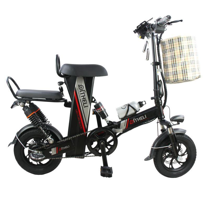 Mini elektrische fahrrad 12-zoll power falten roller erwachsene kleine generation stick elektrische fahrrad lithium-batterie elektrische fahrrad