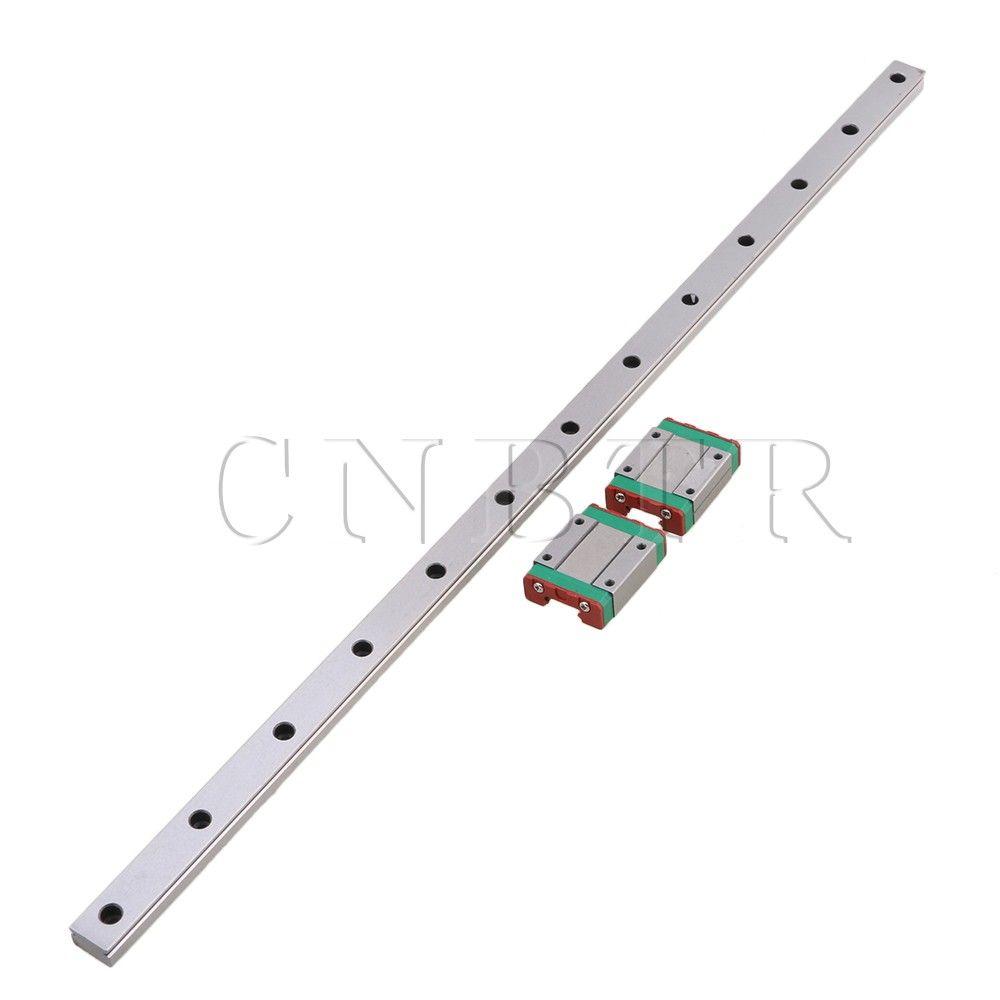 CNBTR 500mm Longueur Roulement Linéaire En Acier Coulissante Guide Glissières & 2 pièces MGN15 Linéaire Bloc D'extension pour CNC 3D Imprimante