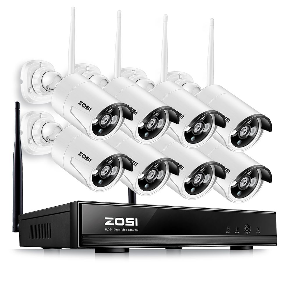 ZOSI 960P AUTO-PAIR Wireless CCTV System 8CH 1080P NVR with 8* 1.3MP 960P 1Waterproof Camera Support 3G Mobile Phone View