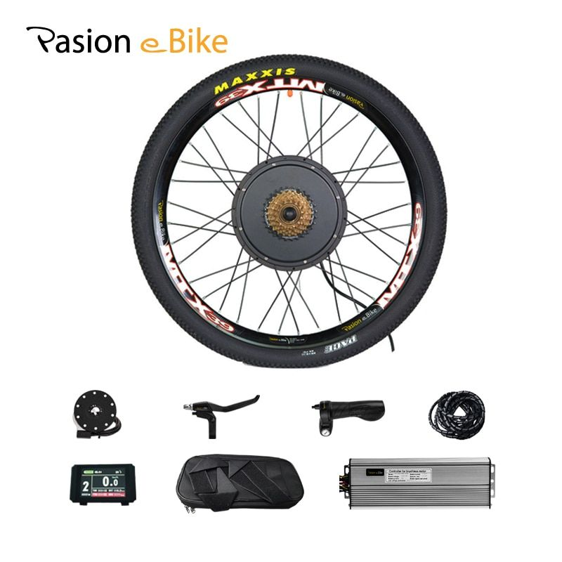 48 V 1500 W Elektrische Bike Kit 7-Speed Motor Rad e Bike Conversion Kit 1500 W für 20 24 26 700C 28 29 zoll Elektrische Rad Motor Kit