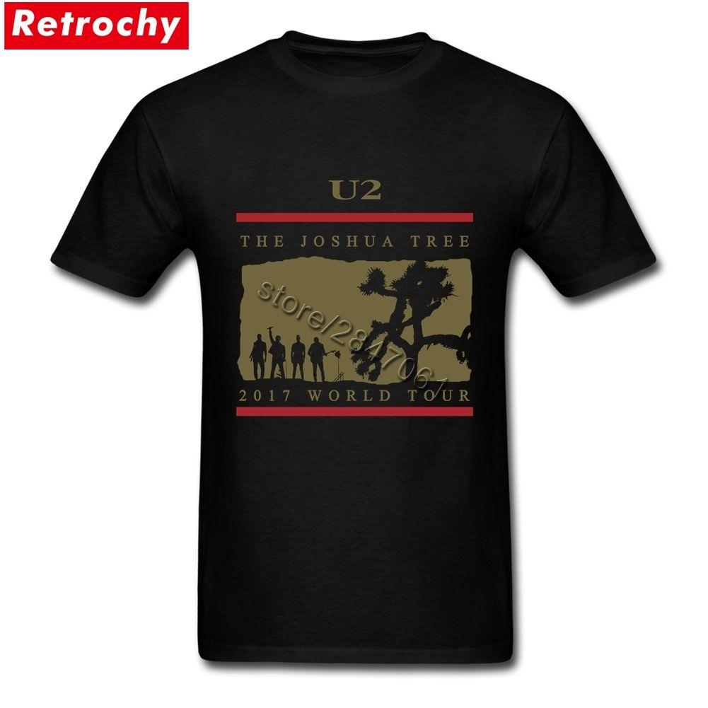 Hommes de Dernière D'origine U2 T Shirt Hommes 2017 World Tour Tee le Joshua Tree T-shirt Concert Officiel À Manches Courtes Irlandais Bande T-shirt