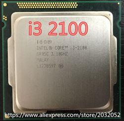 Intel Core i3 2100 Processeur 3.1 GHz/3 MB Cache/Dual Core/Socket 1155/Qual Core/de bureau (de travail 100% Livraison Gratuite)