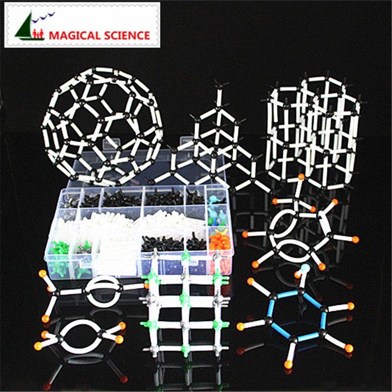 620 pcs 9mm modèle moléculaire kit avec boîte, Chimie Organique Modèle D'enseignement pour enseignants et étudiants en haute l'école et L'université