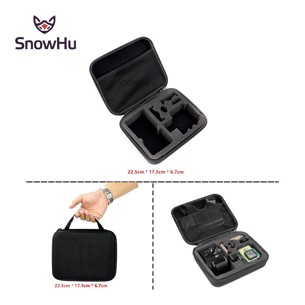 SnowHu para accesorios gopro EVA Caso de colección De Almacenamiento bolsa de Viaje de tamaño Medio para Go Pro Hero 5 4 3 + xiaomi yi 4 K sjcam GP102