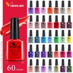 CANNI ногтей Гель-лак Высокое качество Nail Art Salon Советы 60 Лидер продаж Цвет 7,5 мл VENALISA Soak off органические УФ-светодиодный ногтей гель Лаки