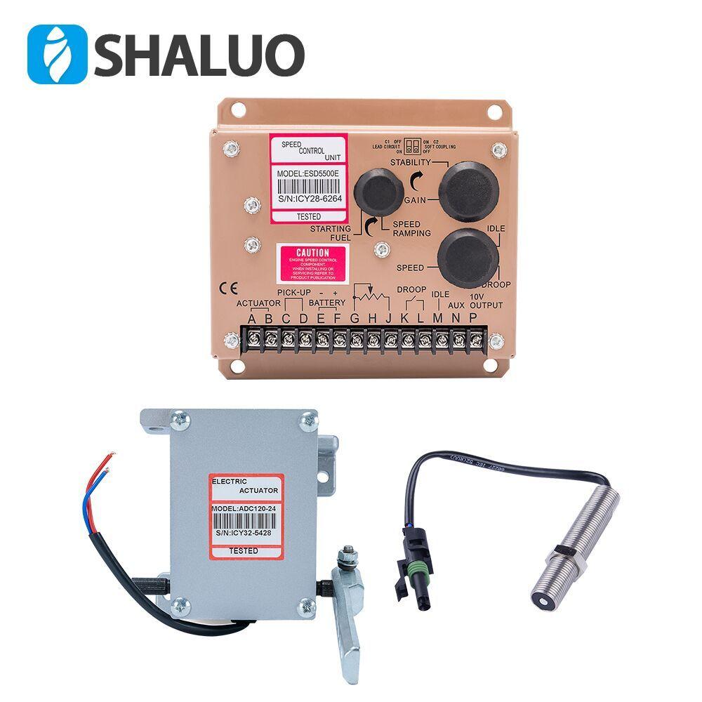 high quality actuator ADC120 Diesel generator Governor 1set ADC120 actuator 3034572 pickup sensor ESD5500E speed controller
