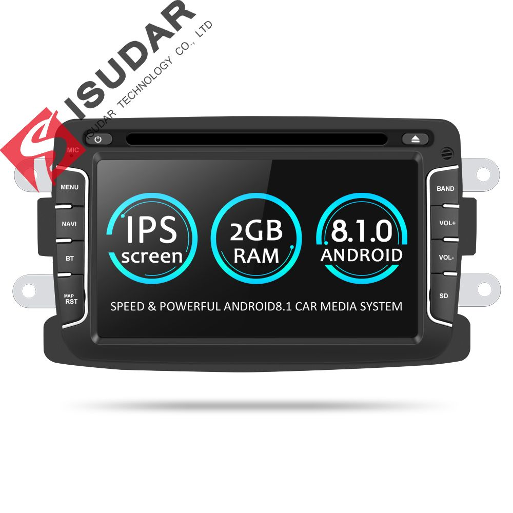 Isudar Car Multimedia player Android 8.1 Automotivo 2 Din For Dacia/Sandero/Duster/Renault/Captur/Lada/Xray 2/Logan 2 GSP RAM 2G