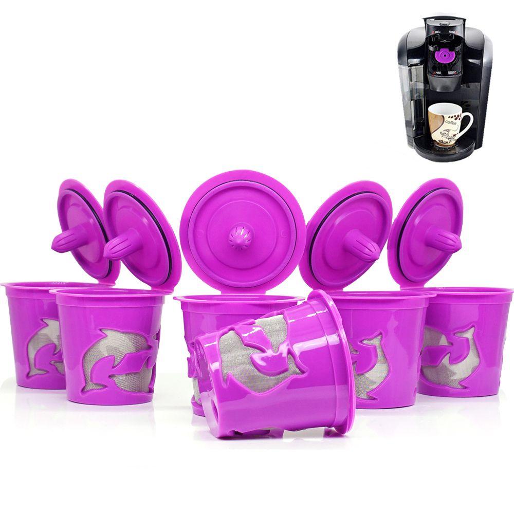 3 pcs/ensemble Keuring Rechargeable café Capsule Réutilisable k-cup Filtre pour 2.0 & 1.0 Brasseurs k tasse réutilisable pour Keurig machine