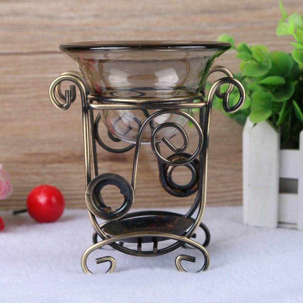 PINNY fer aromathérapie brûleur d'encens grand Volume bougie aromathérapie lampe Antique huile essentielle chauffage grand support arôme