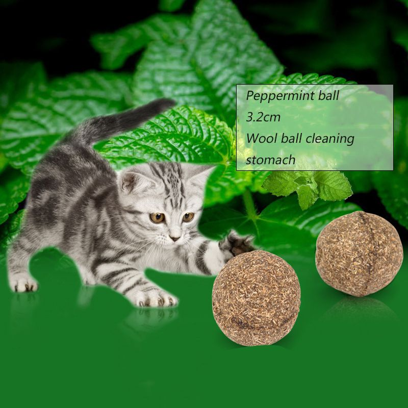 High Quality Cat Toy Natural Catnip Ball Pet Cats Rolling Ball Menthol Flavor Cat Treats Ball Toys
