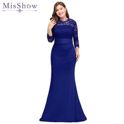 robe de soiree longue Plus Size Evening Dresses 2019 Cheap Red Royal Blue Long Mermaid Evening Party Gown Dress Vestido De Festa
