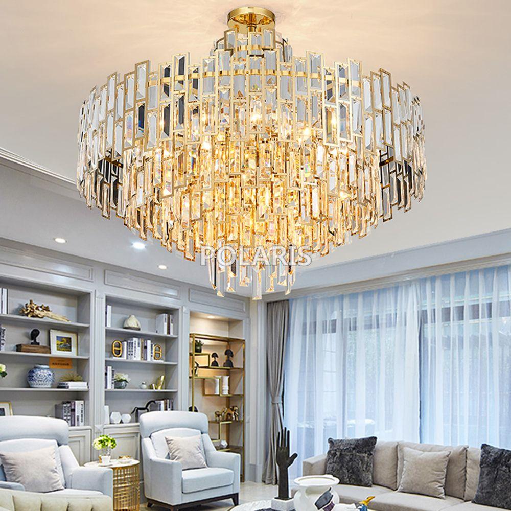 Moderne Luxus Kristall Kronleuchter Leuchte Zeitgenössische Kronleuchter Lampe Anhänger Hängen Licht für Home Restaurant Decor