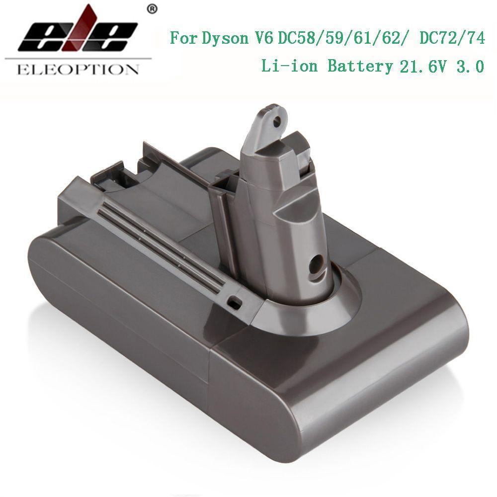 3000 mAh 21.6 V 3.0 batterie li-ion pour Dyson V6 DC58 DC59 DC61 DC62 DC74 SV09 SV07 SV03 965874-02 aspirateur Batterie & 2.2 mAh