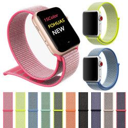 Sports Nylon Strap for Apple Watch Band iWatch Series 1 2 3 4 Colorful 40mm 44mm Nylon Woven Replacement Straps Watch Bands 38mm
