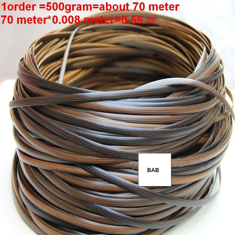 Kaffee gradienten flache synthetische rattan weben material kunststoff rattan für stricken und reparatur stuhl tisch, ablagekorb, ect