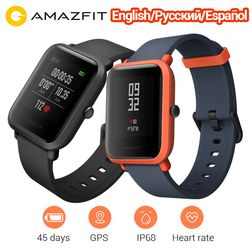 Versi Internasional Amazfit Bip Smart Watch Huami Gps Denyut Jantung Smartwatch Kecepatan Lite 45 Hari Baterai Bluetooth4.0 IP68 Watch