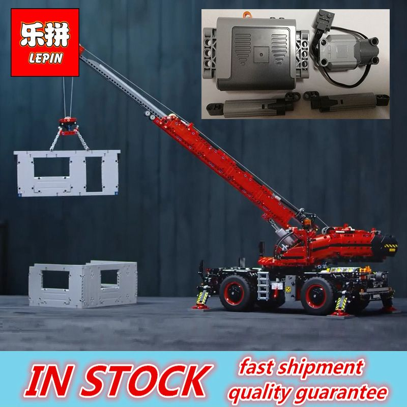 Lepin 20085 Technic Series Model Rough Terrain Crane Set Buidling Blocks Bricks Kids Toys Christmas Gifts compatible with 42082