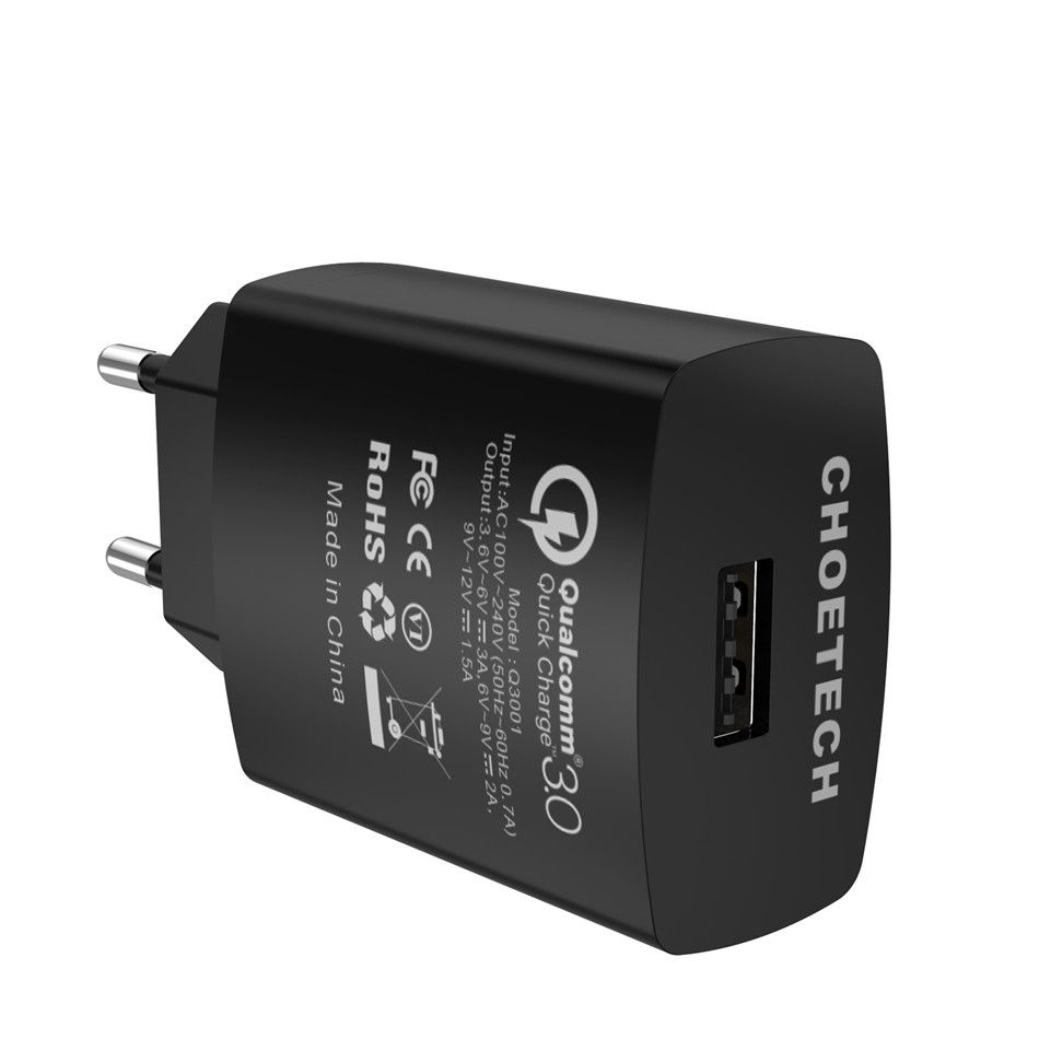 CHOETECH Q3001 / C0043 18W USB reversible Plug Charger QC 3.0 Wall Charging Fast Charge 3.0 Mobile Phone EU UK US Adapter