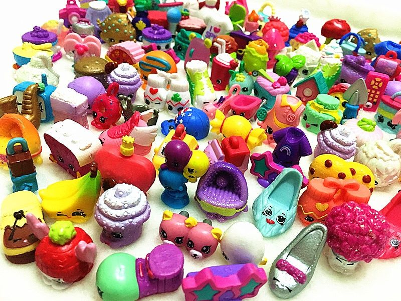 Fruit Shop Action Toy Figures Kins For Family Dolls Kid's Christmas Gift Playing Toys Mixed Seasons 30-200 Pcs/lot HOT