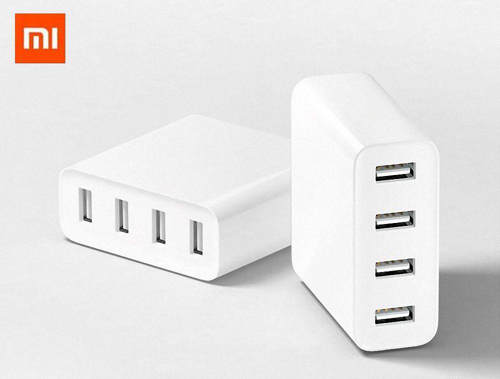 Оригинал Сяо Mi USB Зарядное устройство 2.4a Mi 4USB Порты и разъёмы Quick Charge для iPhone Samsung Сяо Mi Путешествия стены Зарядное устройство адаптер Drop дост...