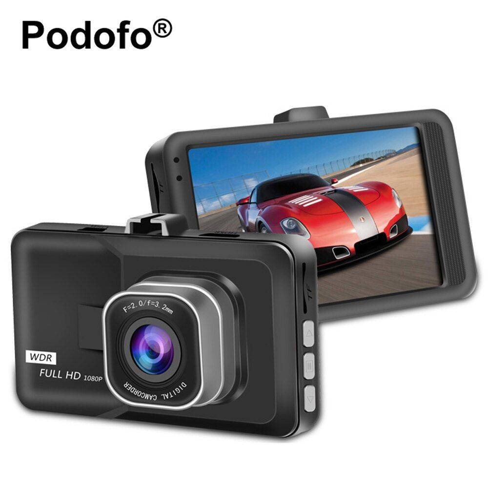 Podofo Registrator Video <font><b>Recorder</b></font> Car DVR Camera 3 Inch FHD 1080P Dashcam Motion Detection Blackbox Dash Cam DVRs