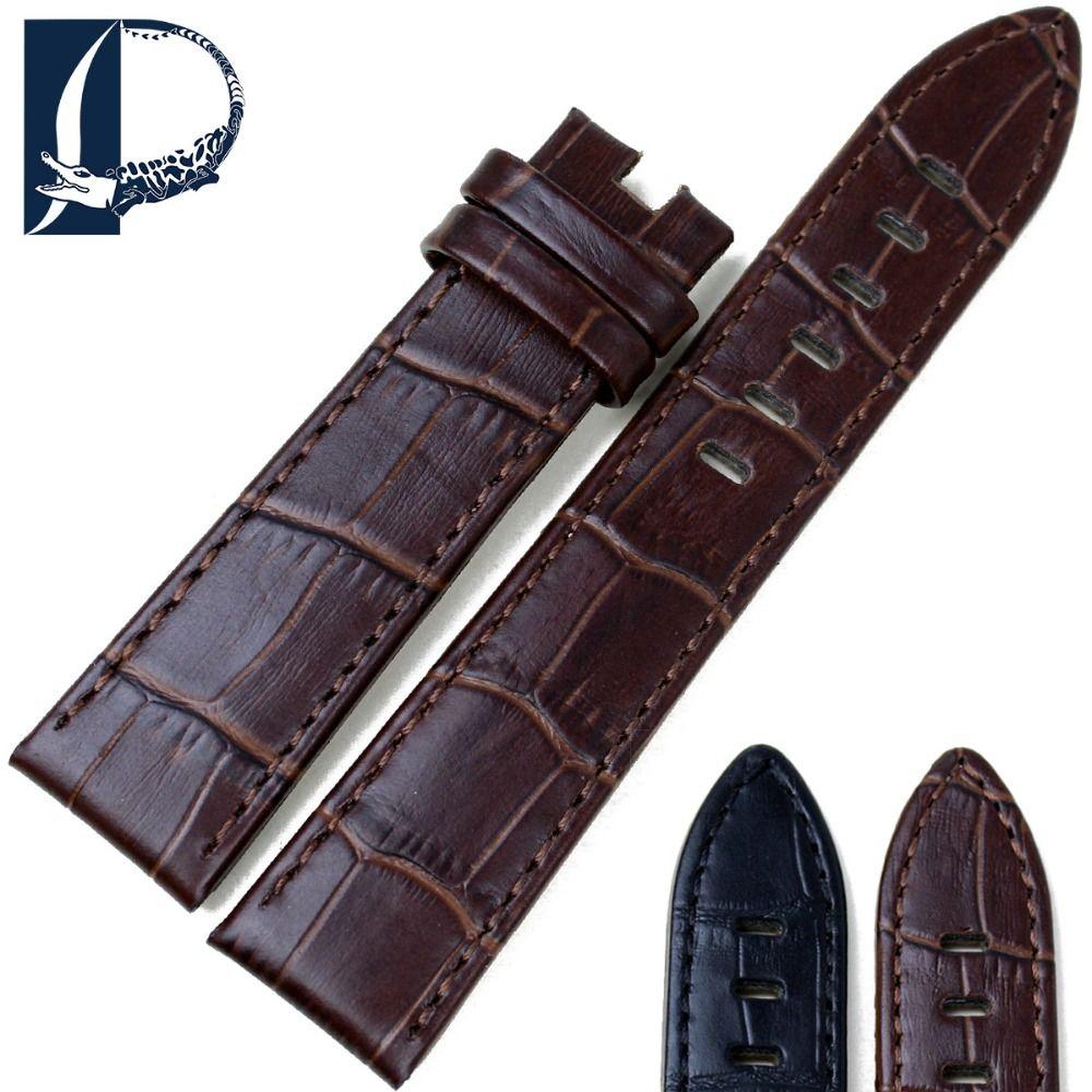 Bracelet de montre Pesno en cuir véritable noir marron veau bracelet de montre 20mm 22mm bracelet de montre adapté pour Montblanc