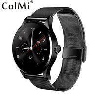 ColMi K88H Bluetooth Smart часы Классический здоровья из металла Smartwatch монитор сердечного ритма для Android IOS пульт дистанционного управления телефоном К...