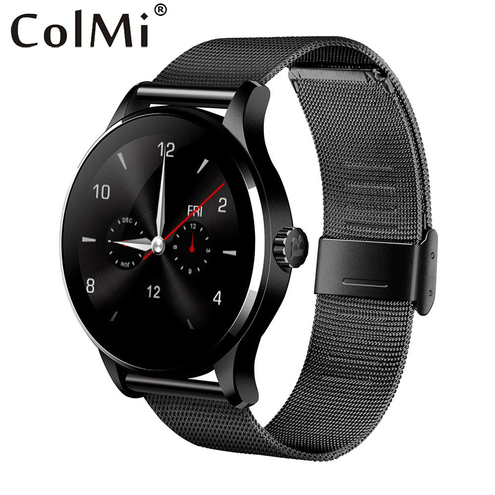 ColMi <font><b>K88H</b></font> Bluetooth Smart Watch Classic Health Metal Smartwatch Heart Rate Monitor For Android IOS Phone Remote Camera Clock
