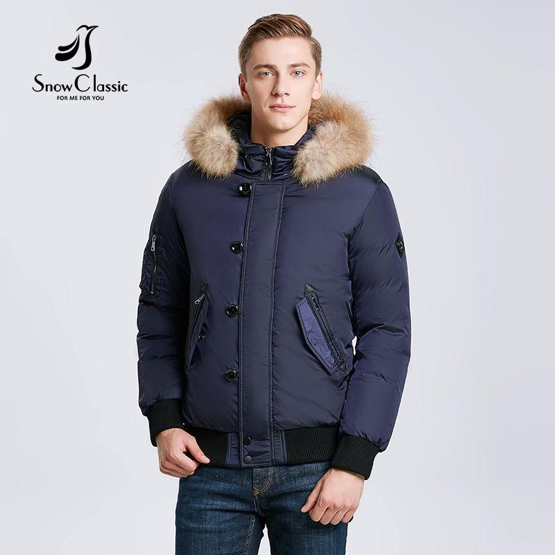 Snowclassic 2018 зимние мужские куртки для волос сгущающие теплые модные деловые случайные портье секция больших ярдов ветра 17533