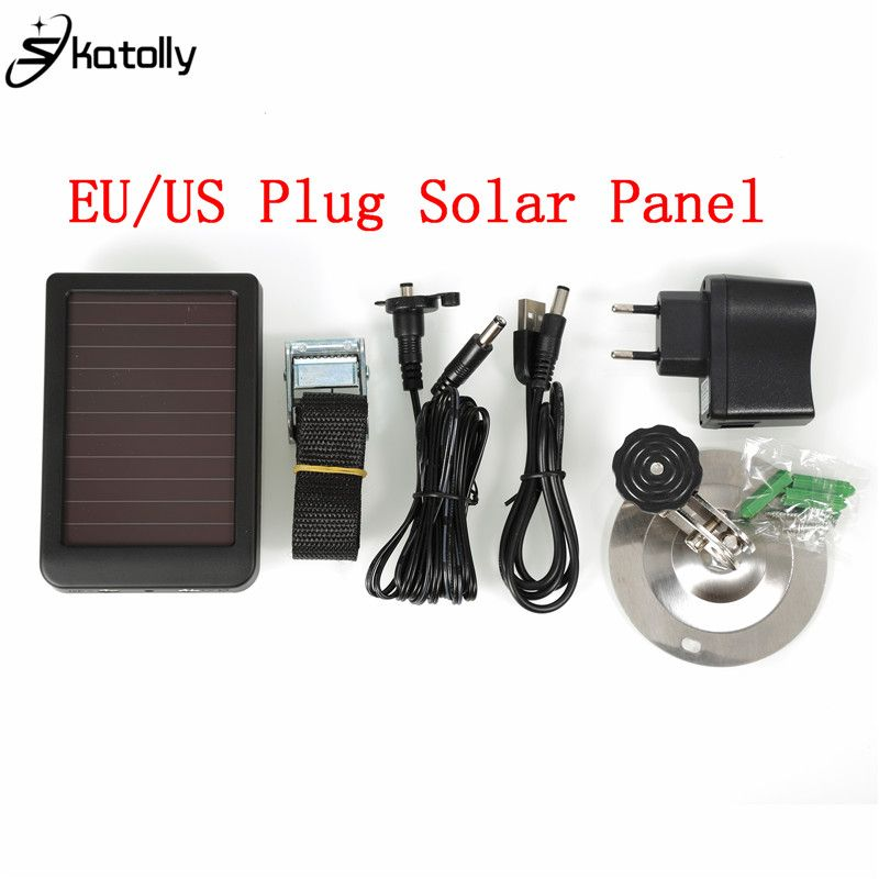 Skatolly Hunting Camera Solar Panel Charger US EU Plug Battery External Power for HC300M HC500M WildlifeWildlife Camera chasse
