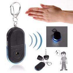 Ukuran Portabel Orang Tua Anti Hilang Alarm Kunci Penemu Nirkabel Peluit Berguna Suara LED Lampu Locator Penemu Gantungan Kunci
