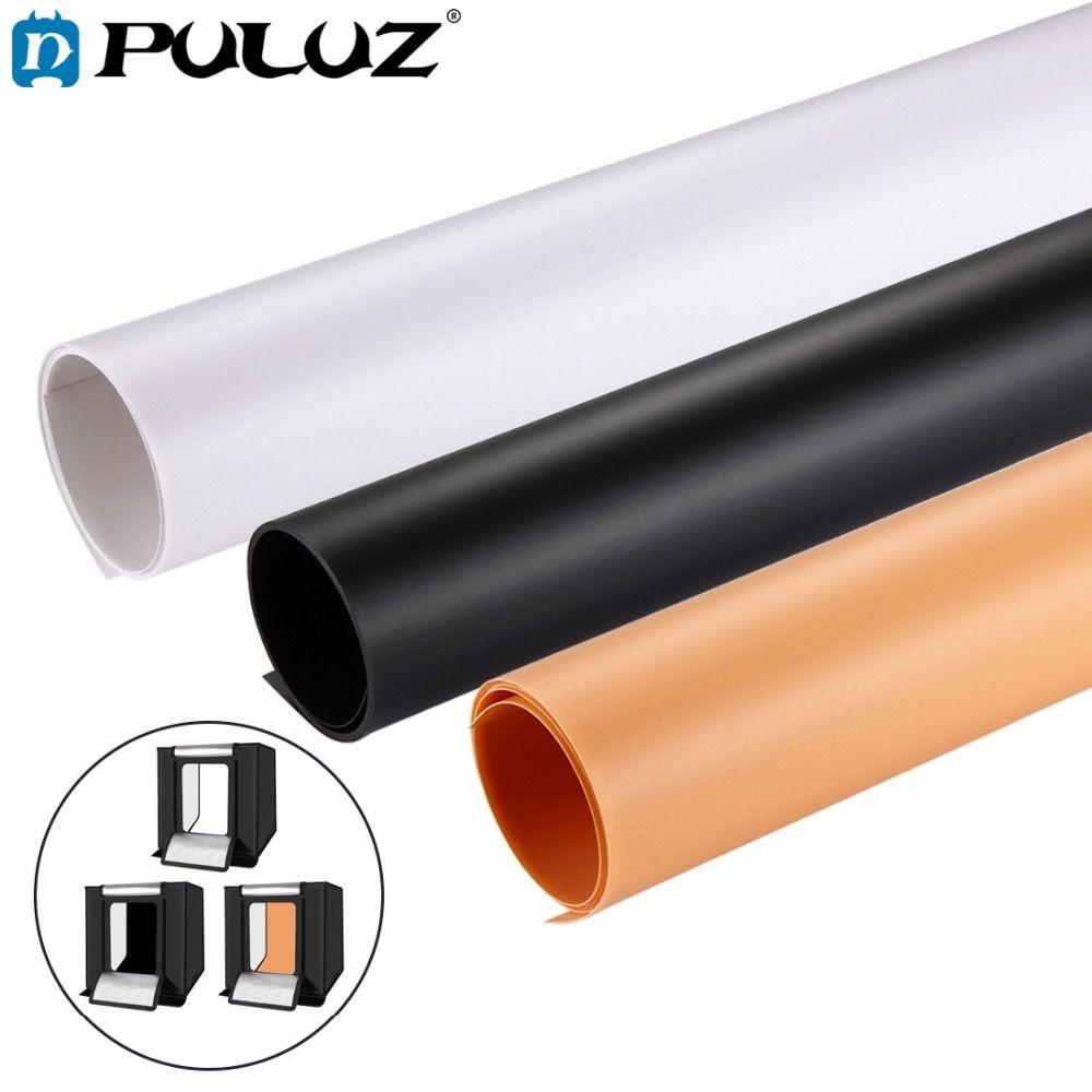 PULUZ 3PCS 80x40 Photography background Screen Backdrop Background PVC Paper Kits for Photo Lighting Studio Tent Box lightbox