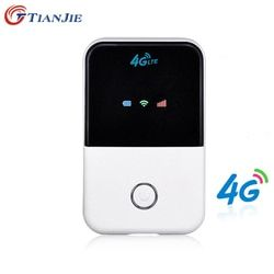 Tianjie 4G WiFi mini ranurador 3G 4G LTE inalámbrica portátil Pocket Wi Fi móvil Hotspot Coche wi-fi Router con ranura para tarjeta SIM