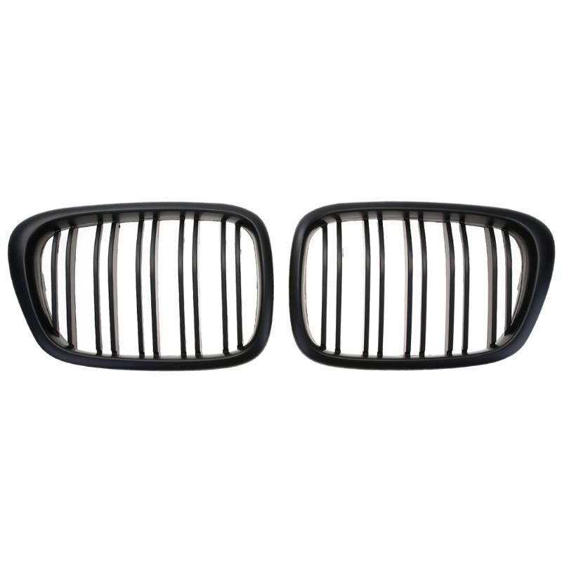 VODOOL 1 Pair Black Front Kidney Grille for BMW E39 5 Series Car Racing Grille Car Styling Accessories Front Kidney Grille