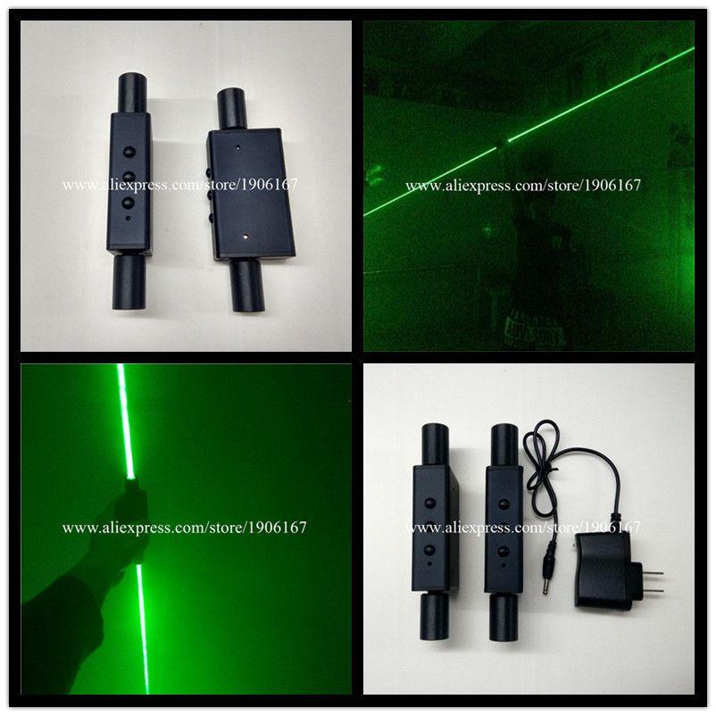 Wecool new design 2pcs green lasers high power hand laser sword for laser show laser man dancing dj performance