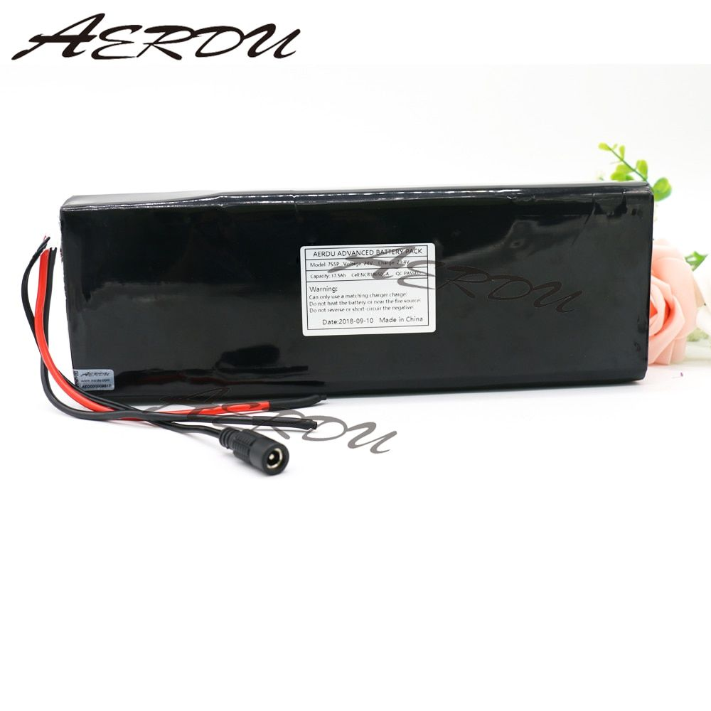 AERDU 7S5P 24V 17.5ah 29.4V FOR NCR18650GA Lithium-ion battery pack Built-in BMS electric bike unicycle scooter wheelchair motor