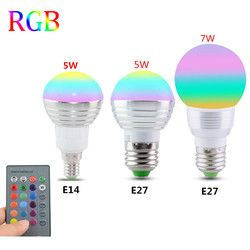 E27 E14 LED 16 Changement de Couleur RGB Magic Light Bulb Lampe 85-265 V 110 V 120 V 220 V RGB Led Spotlight + Télécommande IR contrôle