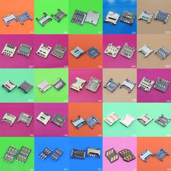 Clearance price 25models SIM Card Reader Holder Connector Socket Slot Replacement Repair Parts tray port for Samsung Xiaomi SONY