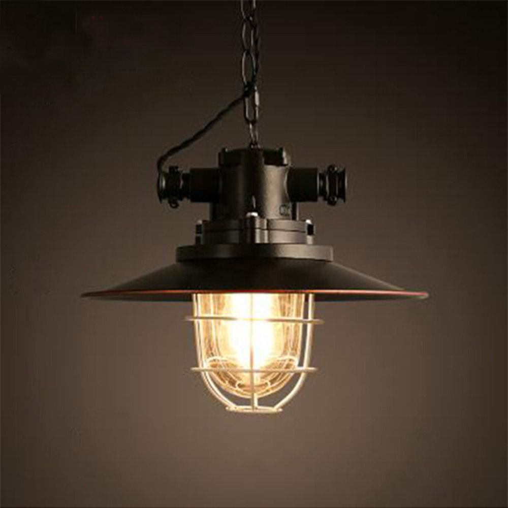 Nordic Loft Restaurant Bar Droplight American Country Industry Ancient Style Pendant Lamp Iron Single Head Pot Droplight