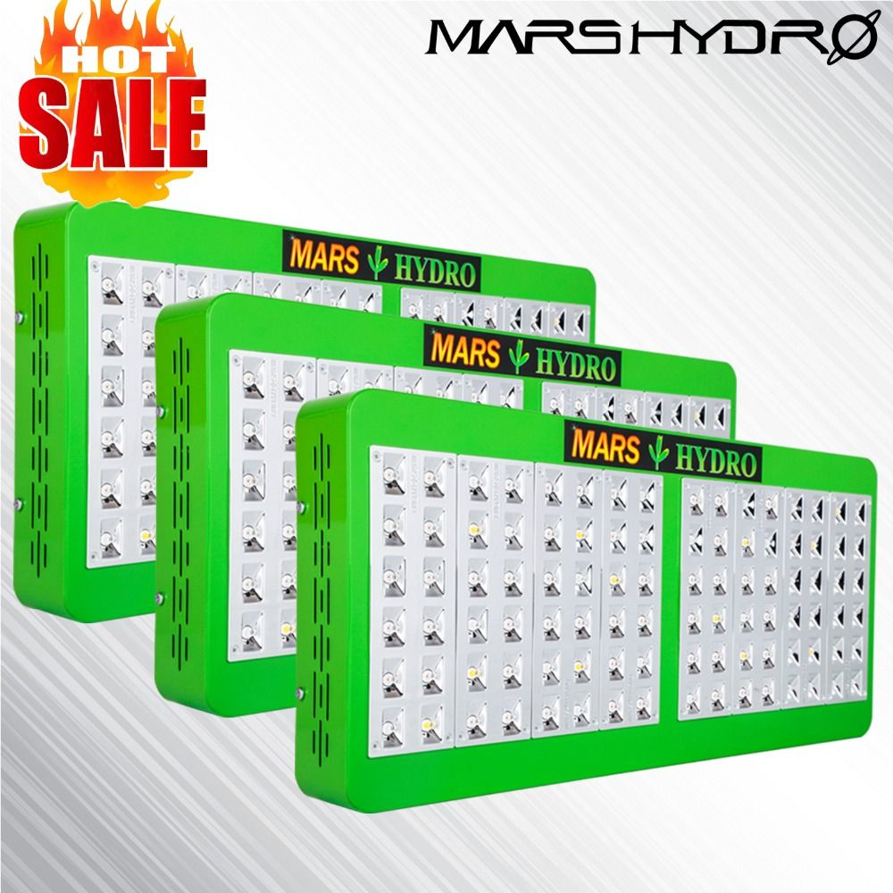 3PCS Mars Hydro Reflector 480W Full Spectrum LED Grow Light Indoor Medical Plants /Panel for Grow tent /Box No Stock in Russia