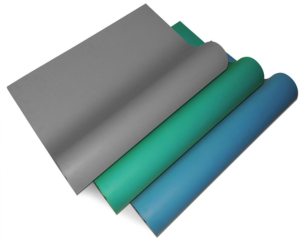 Fastest Shipping from Hungary Blue Grey Green ESD Anitstatic Mat roll Width 1M or 1.2M Length 10M dull 200D 2 Layers