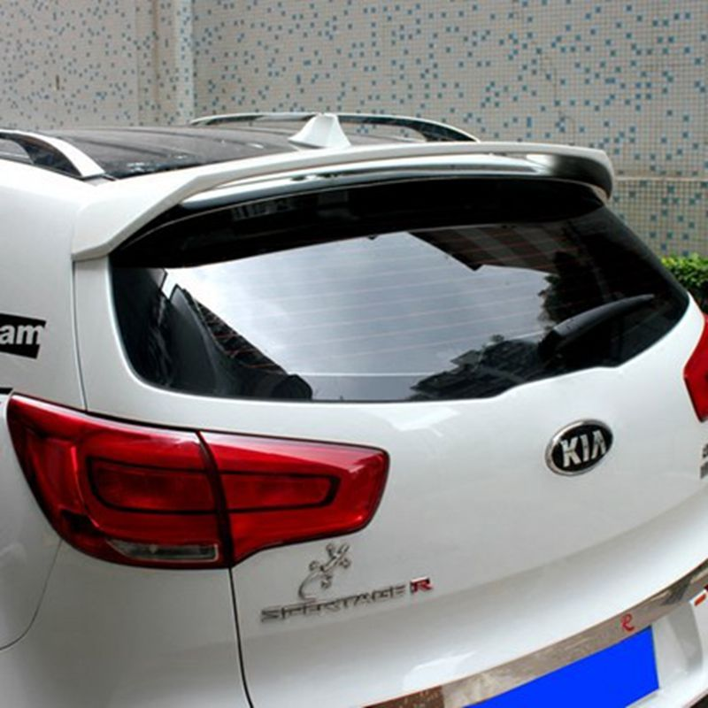 For Kia Sportage R 2011 2012 2013 2014 2015 ABS Plasrtic Unpainted Primer Color Tail Wing Rear Boot Lip Trunk Rear Roof Spoiler