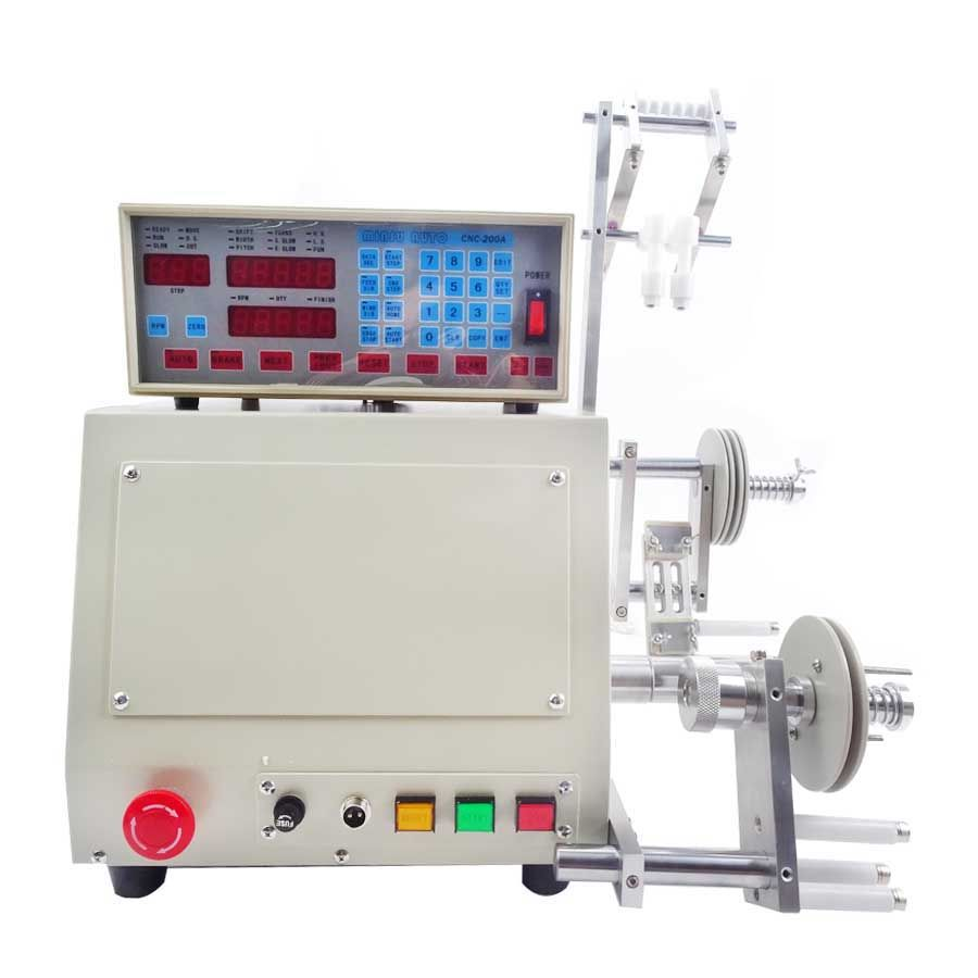 220V/110V Automatic Coil Winder Machine New Computer C Winding Machine for 0.03-1.2mm Windable wire gage 6000circles/min