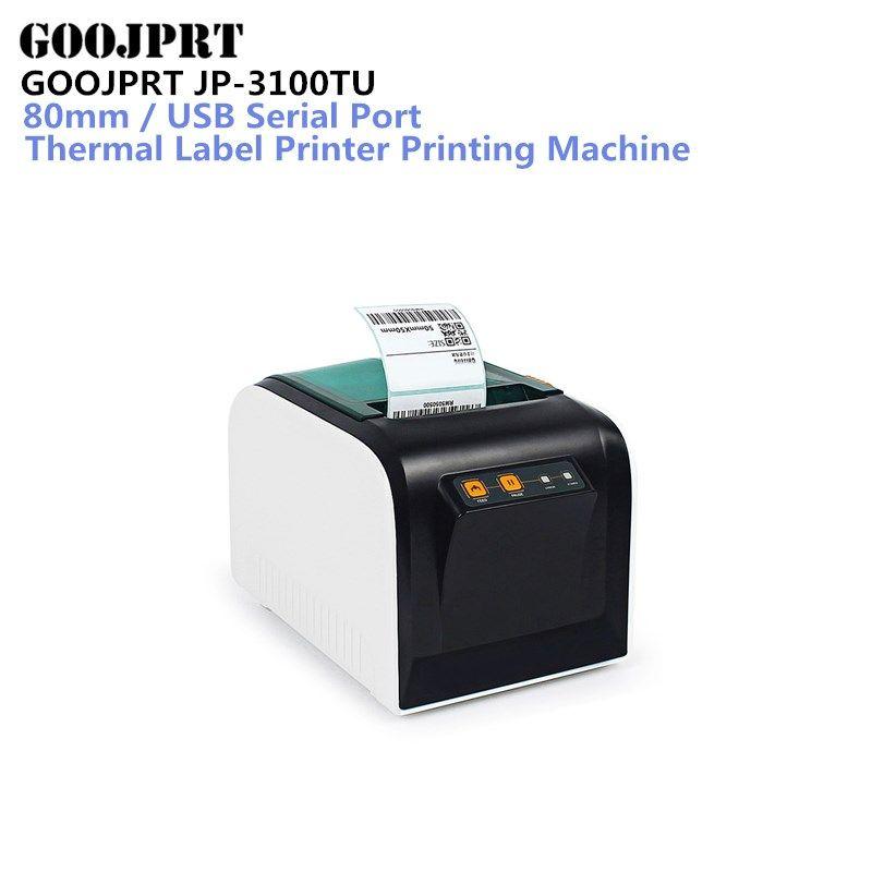 GOOJPRT JP-3100TU Thermal Label Printer 80mm Sticker Printing Machine with USB Serial Port for selling shipping receipt Print