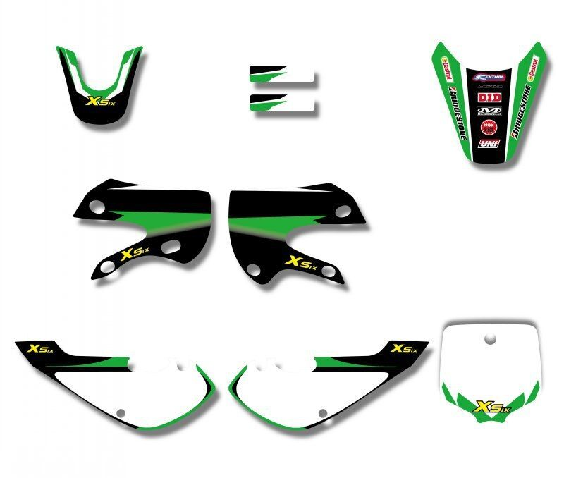 DID New Style TEAM  GRAPHICS&BACKGROUNDS DECAL STICKERS Kits For KAWASAKI KLX110 KX65 DRZ110 STYLE Pit Dirt bike