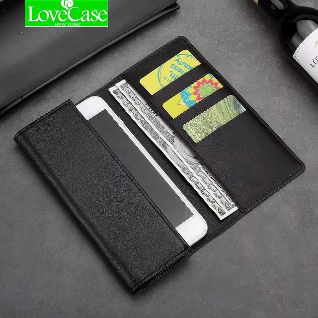 LoveCase Real Genuine Leather Phone Bag Case For iPhone X 8 7 Plus 6 6S Plus Cell Phone Wallet Flip Cover Cases 1inch-5.5inch