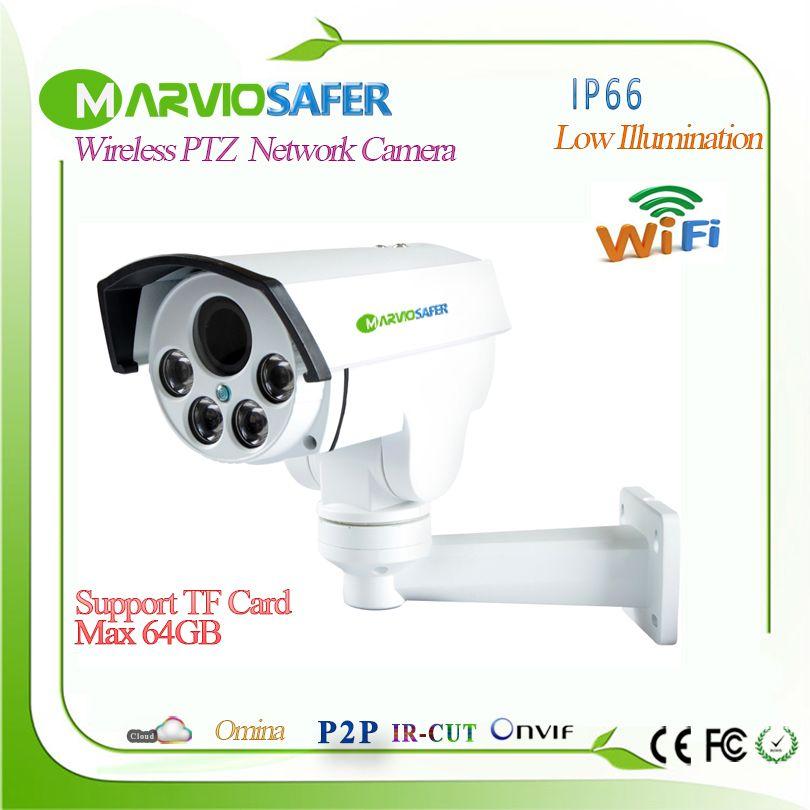 2MP 1080P Full HD Bullet Outdoor IP PTZ Wifi Network CCTV Camera Wireless Wi fi IPcam Camara With TF Card Slot, Onvif Camara
